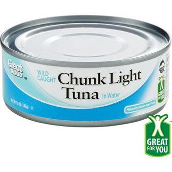 Great Value Light Tuna Chunk In Water, 5 oz