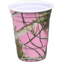 Havercamp Products Havercamp BB76663 Pink Camo 16 oz. Melamine Party Cups