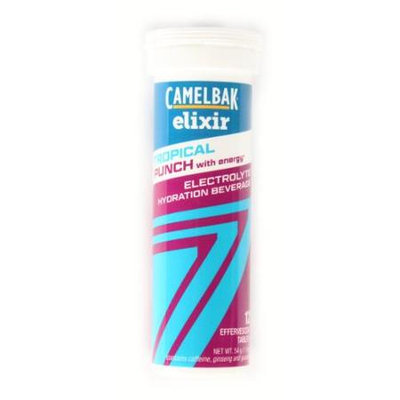 CamelBak Elixir Electrolyte Hydration Beverage - Tropical Punch with Caffeine