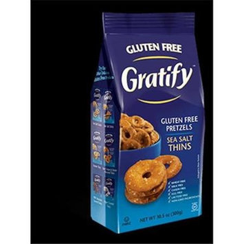 Gratify Gluten Free Pretzels Everything Thins 10.5 oz