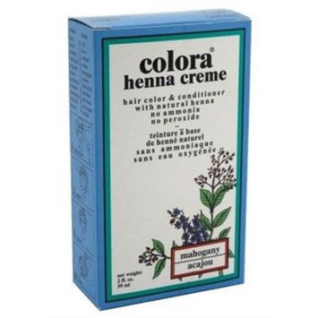 Colora - Henna Creme Hair Color & Conditioner Mahogany - 2 oz.