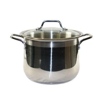 Concord Cookware Inc. CONCORD 16 QT 3-Ply 18/10 Stainless Steel Stock Pot with Glass Lid Commercial Grade