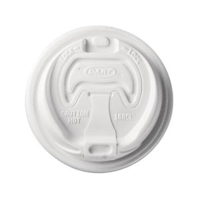 SCCOPT316 - SOLO Cup Company Optima Fully Reclosable Hot Cup Lids for 10-24 oz Cups; White; 1000/Carton