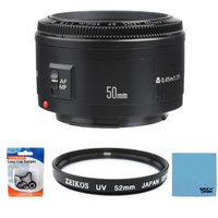 Canon EF 50mm F/1.8 II Standard Auto Focus Lens Exclusive Pro Kit