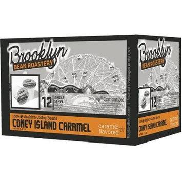 Brooklyn Bean Roastery Brooklyn Beans Coney Island Caramel Coffee Single-Cup Coffee For Keurig K-Cup Brewers For Keurig Brewers (Pack of 6)