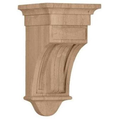 Ekena Millwork 6.5-in x 12-in Maple Raised Fluting Wood Corbel