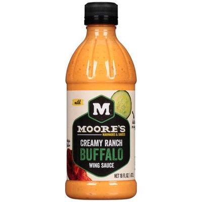 Moore 16 oz. Creamy Ranch Buffalo Wing Sauce Case Of 6