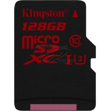 Kingston 128GB MICROSDXC UHS-I SPEED CLASS 3 SINGLE PACK W/O ADAPTER
