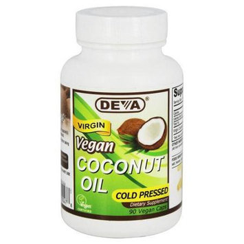 Deva Nutrition - Vegan Virgin Coconut Oil - 90 Vegan Caps