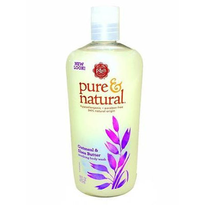 Pure & Natural Body Wash, Hypo Allergenic, Soothing, Oatmeal & Shea Butter 16 fl oz (473 ml) - DIAL