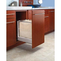 Rev-A-Shelf 5190-15RM 5190 Series 16-1/16 Inch Wide Bottom Mount Hamper with Rev