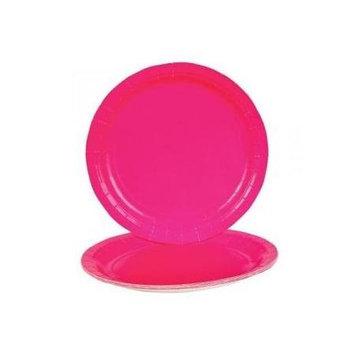Rhode Island Novelty Hot Pink Dinner Paper Plates (25 pc)