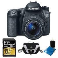 Canon EOS 70D Digital SLR Camera and EF-S 18-55mm Lens 32GB Bundle