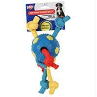 Ethical Pet Products Ethical Dog-Mvp Rope Sport Ball- Assorted 3.5
