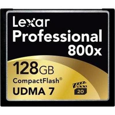 Lexar Media 128GB Professional 800x CompactFlash Card - LCF128CTBNA8002 - 2-Pack