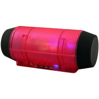 Qfx, Inc QFX BT-44RED Bluetooth Rechargeable Mini Speaker Red