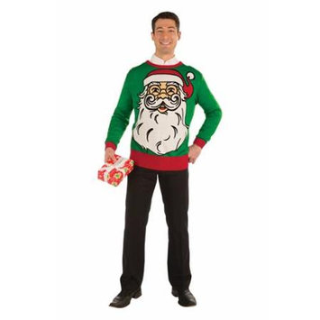 Forum Novelties Big Santa Ugly Christmas Sweater Adult Medium