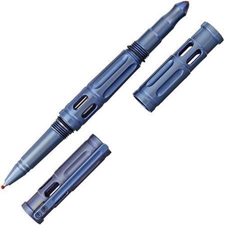 Krudo Knives KRBTNCB Krubaton Tactical Pen Matte Blue Titanium Housing
