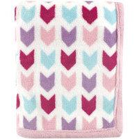 Baby Vision Hudson Baby Print Coral Fleece Blanket - Pink Chevron