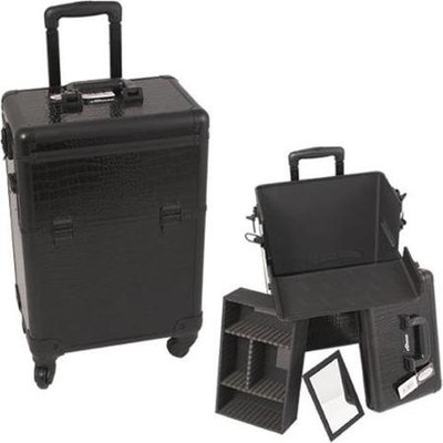 Sunrise E6301CRAB All Black Croc 4-Wheels Case