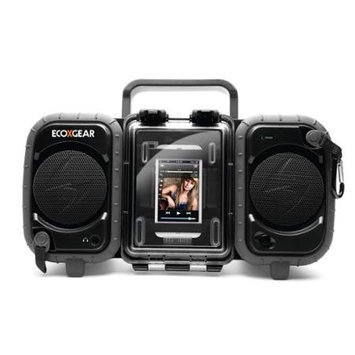 ECOXGEAR ECOTERRA Shock Resistant / Waterproof MP3 Player Stereo Boom Box-Black
