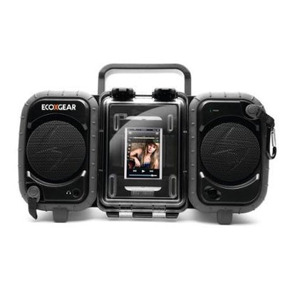 ECOXGEAR ECOTERRA Shock Resistant / Waterproof MP3 Player Stereo Boom Box-Black