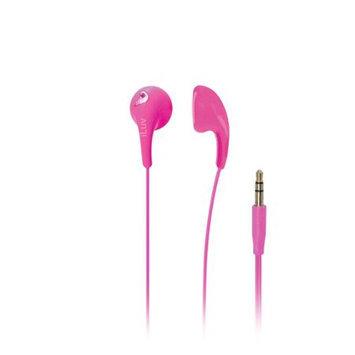 iLuv - Bubble Gum II Earphone, Flexible, Jelly-Type Stereo Earphones - Pink