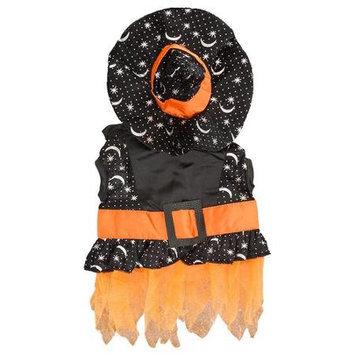 Witch Dog Costume in Black/Orange
