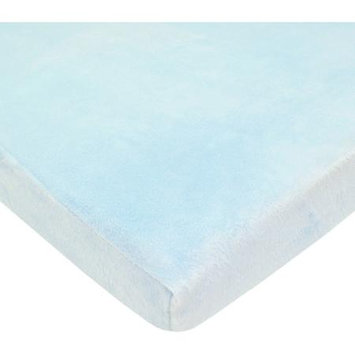 American Baby Company ABC Heavenly Soft Chenille Fitted Pack-N-Play Sheet - Blue
