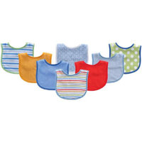 Baby Vision Luvable Friends 8 Pack Colorful Printed Baby Bibs