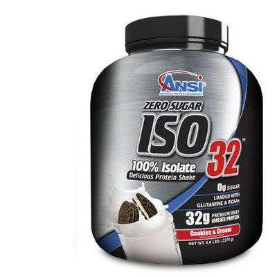 ANSI Advanced Nutrient Science - Iso 32 Whey Protein Isolate Powder Cookies n Cream - 5 lbs.