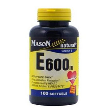 Mason Natural, Vitamin E 600 IU, 100 Softgels