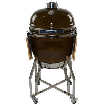 All Pro KAMADO 19 Charcoal Grill, Autumn Red