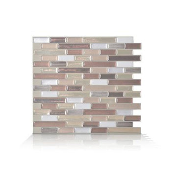Smart Tiles Vinyl: 9.125 in. x 10.25 in. Muretto Durango Mosaic Decorative Wall Tile (6-Pack) SM1053-6