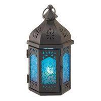 Koolekoo Home Locomotion 10015247 Small Blue Moroccan Candle Lantern
