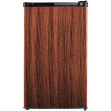 Midea WHS-160RWD1 Compact Single Reversible Door Refrigerator And Freezer - Wood