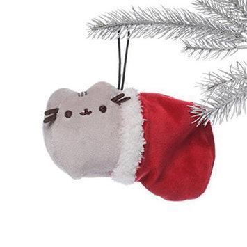 Enesco Pusheen the Cat 6 Plush Ornament Pusheen in Christmas Stocking