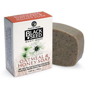 Amazing Herbs - Black Seed Oatmeal & Honey Soap - 4.25 oz.