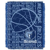 Northwest NOR-1NBA019040028RET Memphis Grizzlies NBA Triple Woven Jacquard Throw - Double Play Series - 48x60
