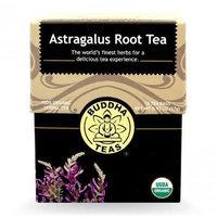 Buddha Teas Astragalus Root 100 Percent Organic Herbal Tea 18 Bags Per Packet