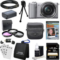 Sony a5000 Compact Interchangeable Lens Camera Silver w/ 16-50mm Lens Ultimate Bundle
