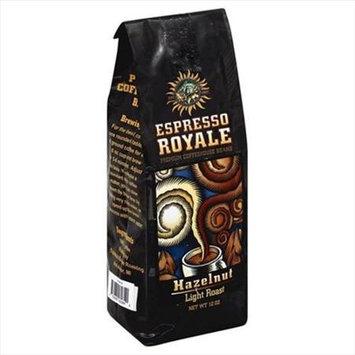 Espresso 12 oz. Hazelnut Light Roast Coffee Beans - Case Of 6