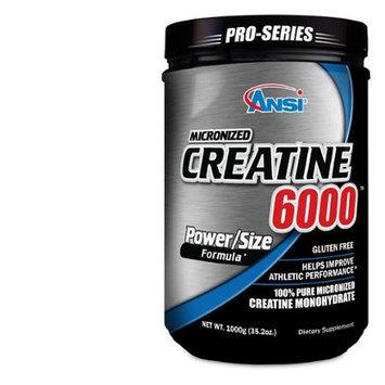 ANSI - Micronized Creatine 6000 - 100% Pure Creatine Monohydrate (1000 gram)