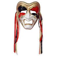 Forum Novelties Inc Forum Novelties 65622F Tri Color Tragedy Mask