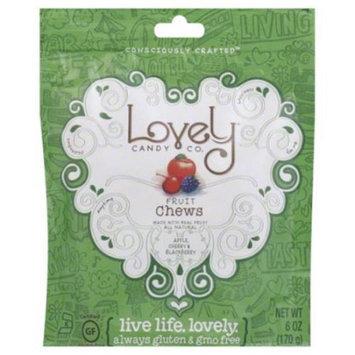 Lovely Candy Co Fruit Chews Apple Cherry & Blackberry 6 oz