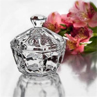 StudioSilversmiths 44039 Crystal Candy Box With Diamond Shaped Finial
