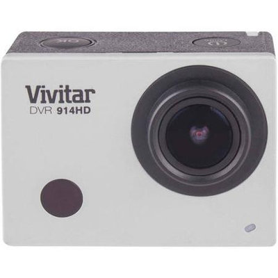 Vivitar DVR914 4K Action Camera with LCD Screen - Silver.