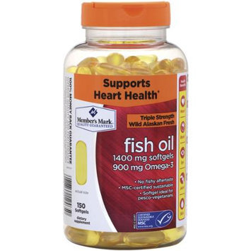 Member's Mark Triple Strength Wild Alaskan Fresh Fish Oil