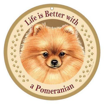 Sjt Enterprises Life Is Better Breed Plaque Pomeranian