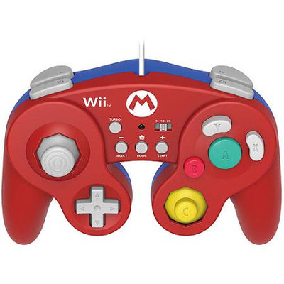 Horiu.s.a. Wii U Battle Pad Wired Classic Gamepad Controller - Mario (Hori)